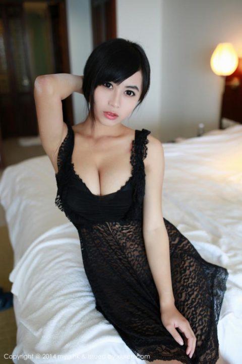 中国グラドル 黄可 画像017