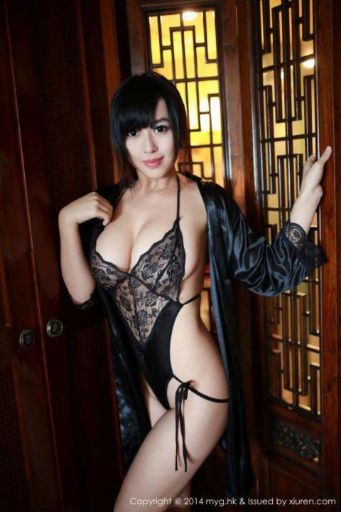 中国グラドル 黄可 画像027