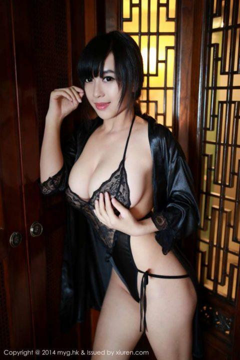 中国グラドル 黄可 画像028
