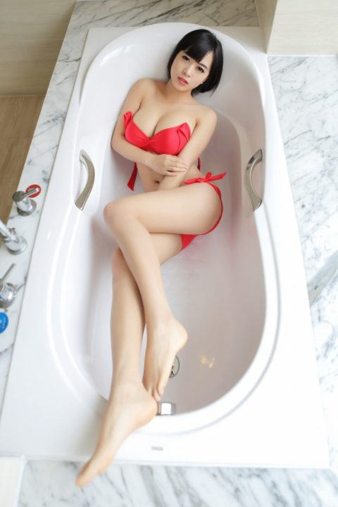 中国グラドル 黄可 画像079