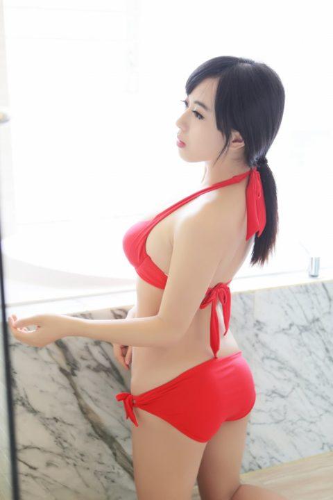 中国グラドル 黄可 画像084