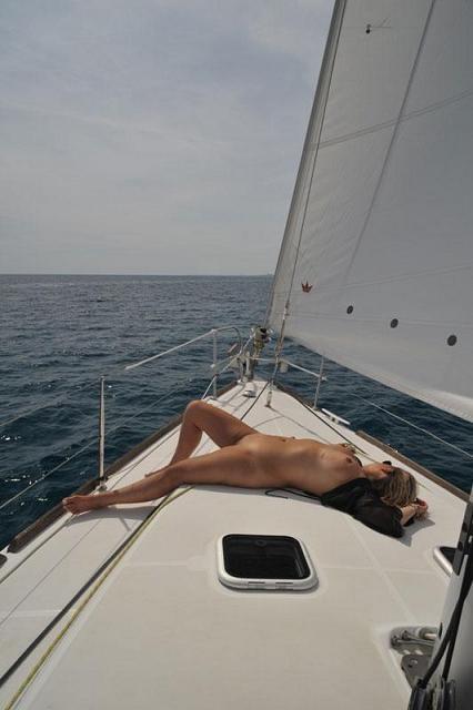 船上露出 画像009