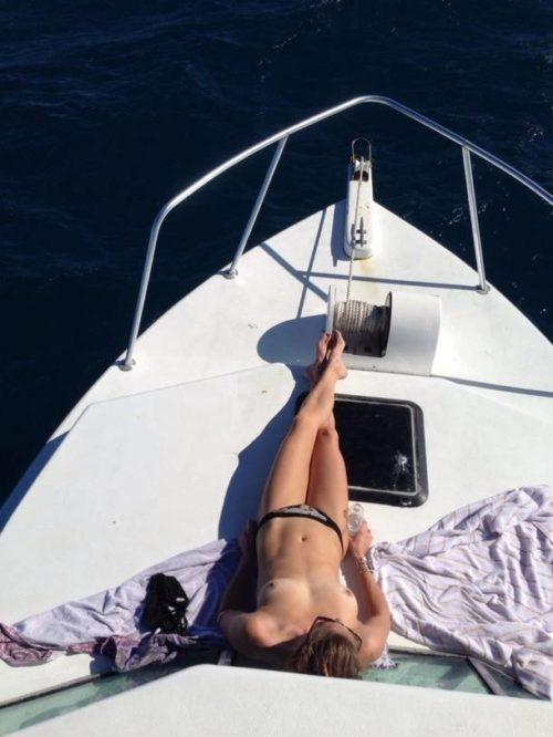 船上露出 画像040