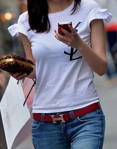 Tシャツ街撮り 画像032