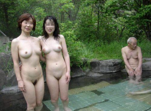 素人熟女露天風呂裸画像 エロ画像 PinkLine
