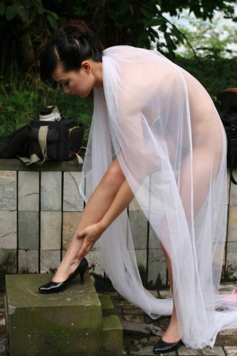 中国人野外ヌード画像 034