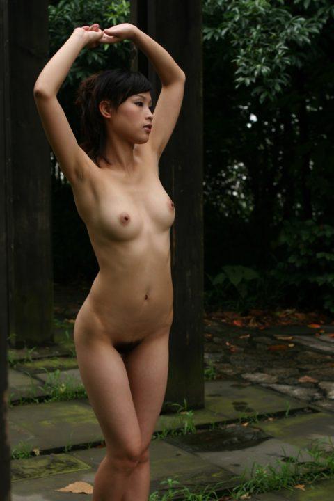 中国人野外ヌード画像 076