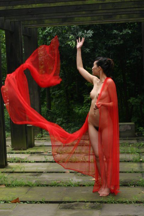 中国人野外ヌード画像 109