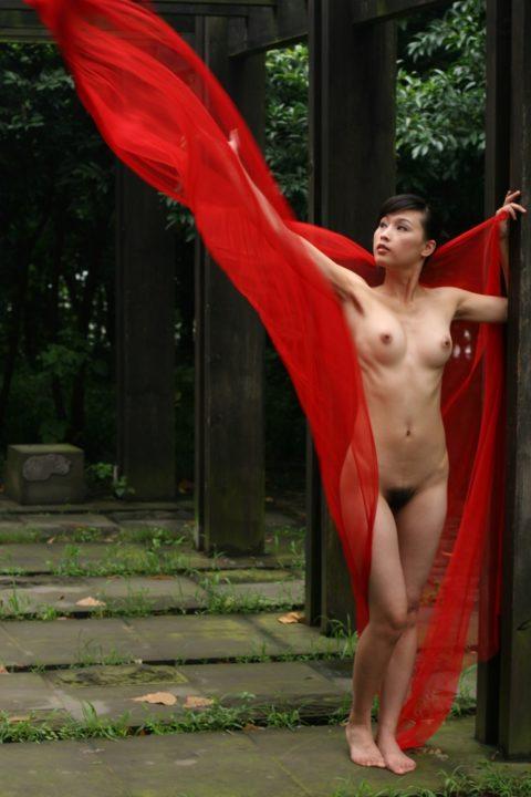 中国人野外ヌード画像 110