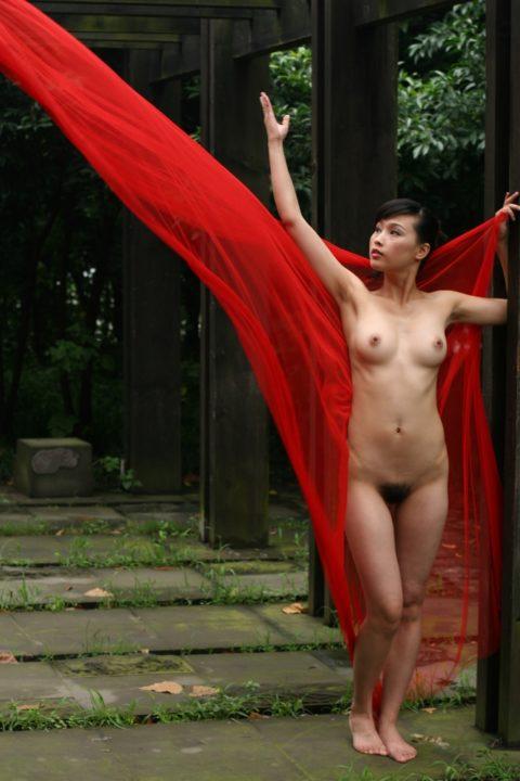 中国人野外ヌード画像 111