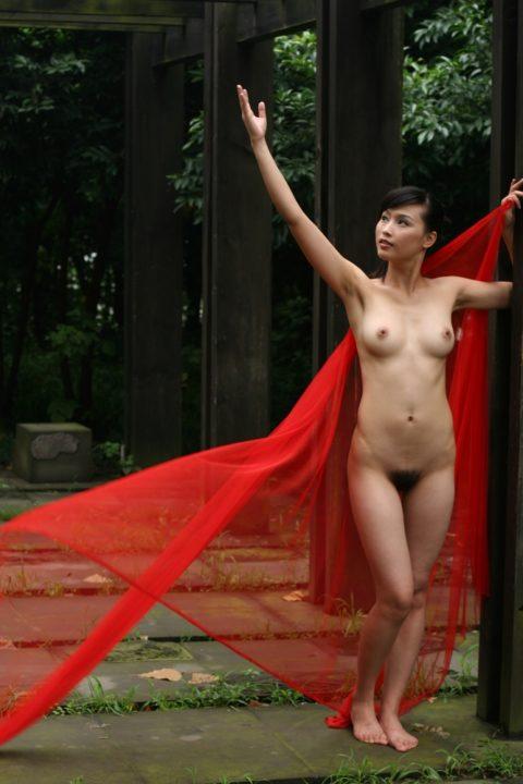 中国人野外ヌード画像 115