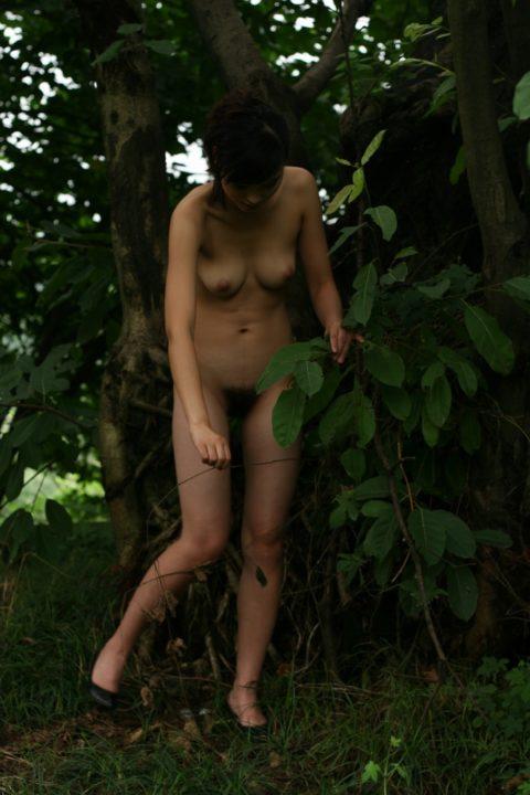 中国人野外ヌード画像 132