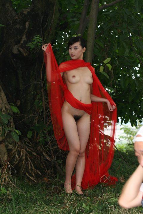中国人野外ヌード画像 142