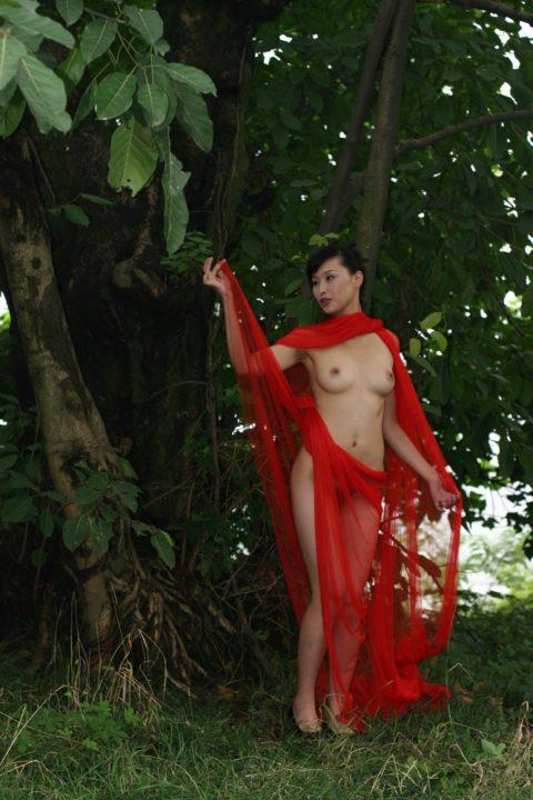 中国人野外ヌード画像 143