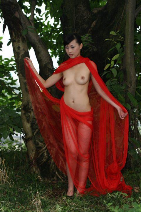 中国人野外ヌード画像 148
